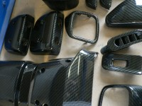 Nissan dash parts in carbon dip