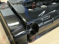Honda Civic Rocker cover- carbon dipping, close up