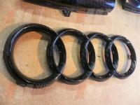 Audi badge- cabon dipped