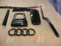 Audi interior parts carbon dipped