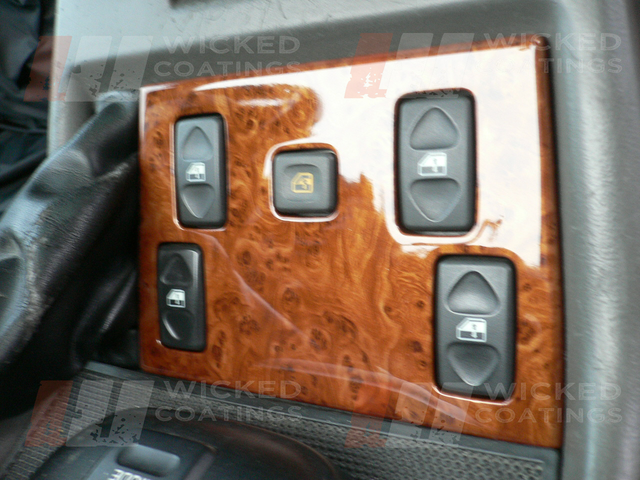 walnut burl water transfer printing on car interior part. Black Bedroom Furniture Sets. Home Design Ideas