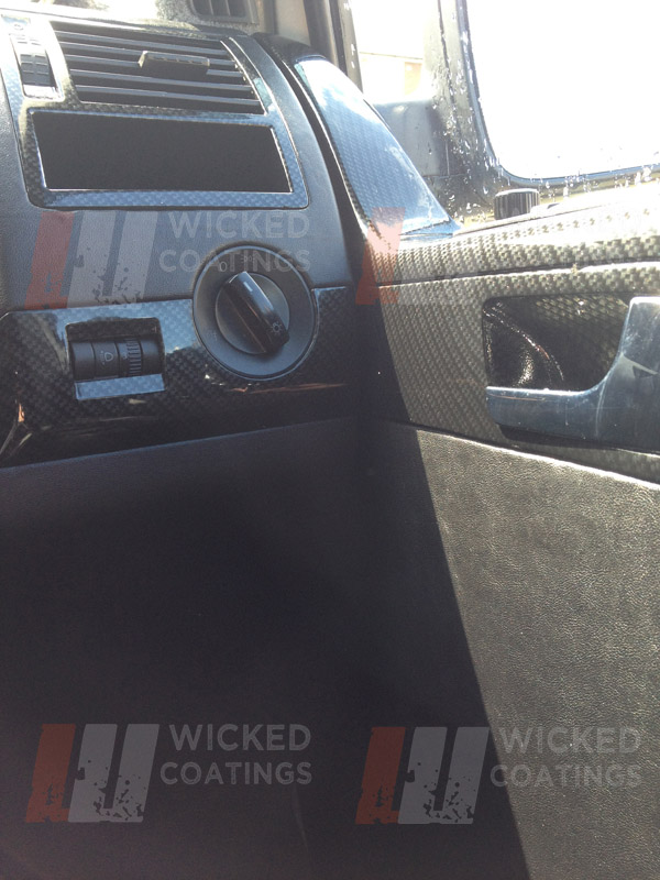 Vw Custom Interior Cabron Dip Van Dashboards