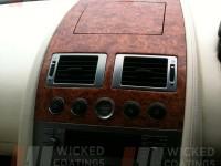 Aston Martin walnut dipped centre dash