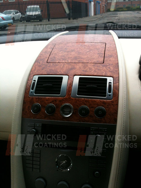 Custom Car Interior Wood Dipping Aston Martin