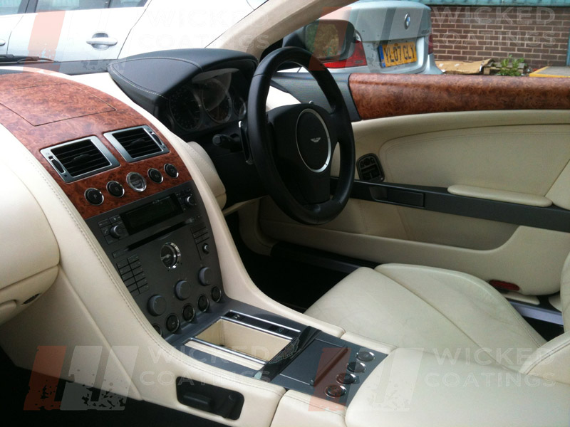 custom car interior wood dipping aston martin. Black Bedroom Furniture Sets. Home Design Ideas