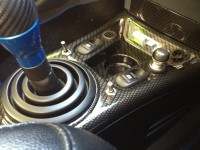 Amazing carbon dipped centre console by Hydrographics team at Wicked Coatings
