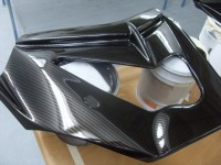 Kawasaki custom painted and carbon dipped by hydro dipping experts Wicked Coatings in Poole