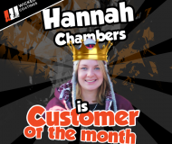 Hannah Chambers is the Wicked Coatings Customer of the Month for October