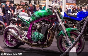 Great shot of our MD's bike - customised with expert water transfer printing