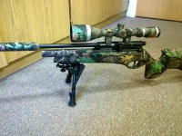 Great shot of rifle customised with water transfer printing by dorset based Wicked Coatings