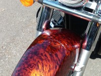 nice shot of custom paintwork for Yamaha by Wicked Coatings