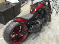 side view of various hydro dipped parts for v-rod muscle